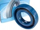 Rotary Shaft Seal (oil-seal) AS 22x40x10 NBR-440 blue (2.2-22x40-2 GOST 8752-79)